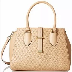 Calvin Klein Bags - Calvin Klein/ Quilted Nude Leather Satchel